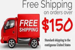 Spend $150 and earn free shipping with this order