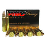 PMC 55 GRAIN FMJBT AMMUNITION, 100 Pack