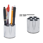 GG&G PEN AND PENCIL HOLDER, CHROME