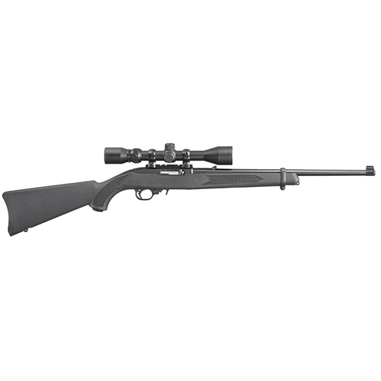 Ruger 10/22 22lr Blk Syn 3-9x40 Weaver Scope