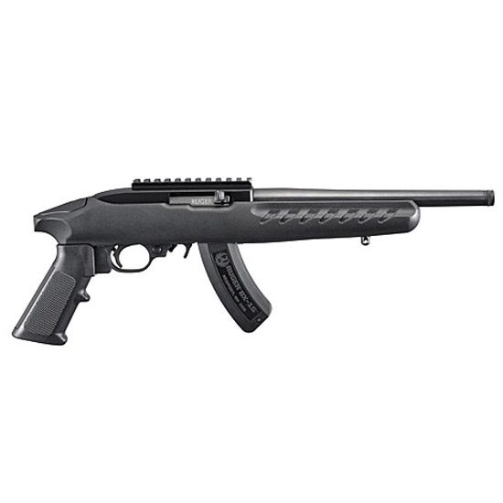 Ruger 22 Charger 22lr 10 Blk Poly A2 W/ Rail 15rd