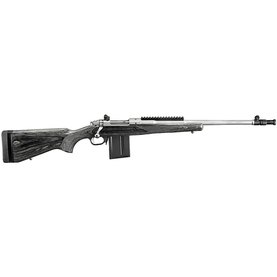 Ruger Gunsite Scout 308win 18.7 Ss Blk Lamin 10rd