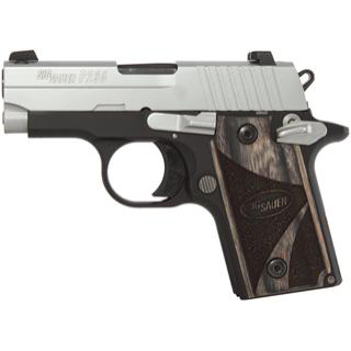 Sig Sauer P238 380acp Duo Tone Ns Blackwood Grips 1 6rd