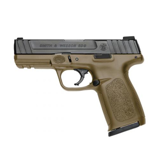 Smith & Wesson Sd9 9mm 4 Fde Frame Blk Ss Slide 16rd