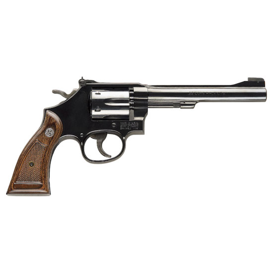 Smith & Wesson 17 22lr 6 Blued 6rd Wood Grip