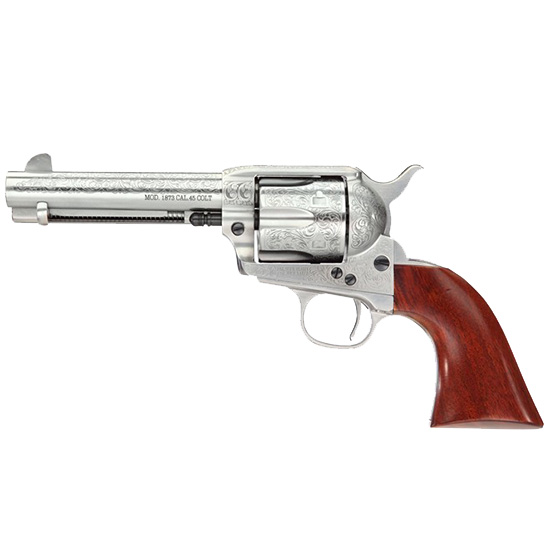 Taylor Firearms Uberti 1873 Cattleman 45lc 4.75 White Eng