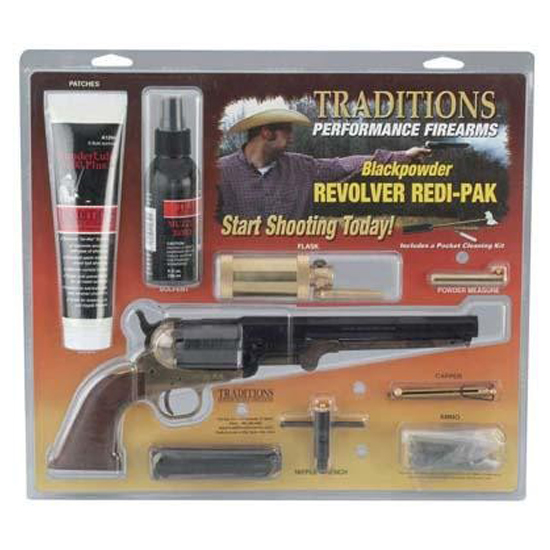 Traditions 1858 Army 44cal Redi Pack Brass Blued