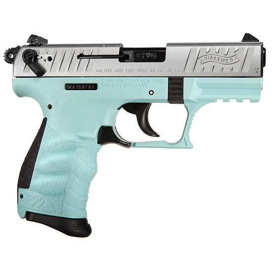 Walther P22 22lr 3.42 Angel Blue CA Legal
