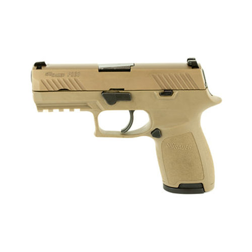 Sig Sauer P320 Compact 9mm Flat Dark Earth Nitron Slide Finish with Night Sights