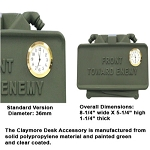 GG&G CLAYMORE MINE DESK ACCESSORY WITH CLOCK
