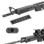 GG&G M-LOK QD SLING ATTACHMENT & M-LOK 7 SLOT RAIL