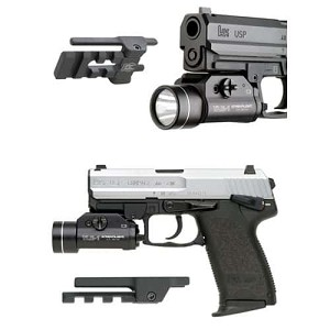 GG&G HK FULL SIZE USP PICATINNY RAIL FLASHLIGHT AND LASER MOUNT
