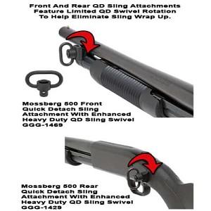 GG&G Mossberg 500 Quick Detach Front & Rear Sling Attachments