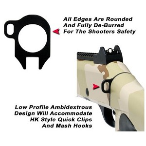 GG&G BENELLI M4 SINGLE POINT SLING ATTACHMENT, LOOPED