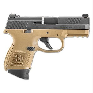 FNH Fns-9c 9mm Fde Blk Nms (2) 10rd