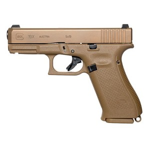 Glock 19x 9mm 4.02 FDE Coyote Brown Ns 10rd