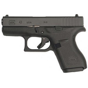 Glock 43 9mm 3.39 FS 6rd Us Made