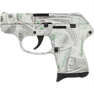 Ruger LCP 380acp Glowing $100 Bills