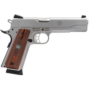 Ruger Sr1911 45acp 5 Ss Wood Grip 8rd