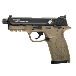 Smith & Wesson M&P22 Compact 22lr 3.56 Fde Suppressor Rea
