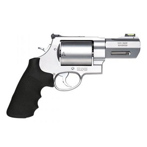 Smith & Wesson 500 500sw 3.5 Satin Ss Rubber Grip Fos