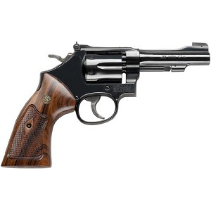 Smith & Wesson 48 22mag 4 6rd Blue Wood Grip