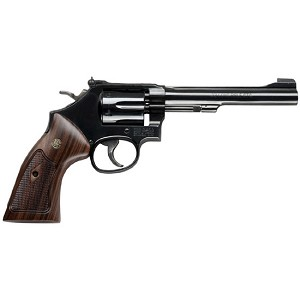 Smith & Wesson 48 22mag 6 6rd Blue Wood Grip