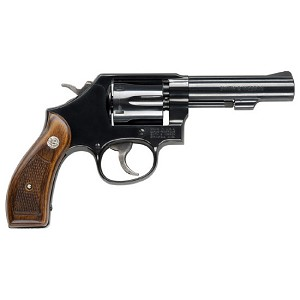 Smith & Wesson 10 38spl+p 4 6rd Carbon Frame Wood Grip