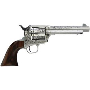 Taylor Firearms Uberti 1873 Cattleman 45lc 5.5 Photo Engr Wht