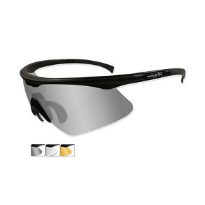 WILEY X PT-1 SUNGLASSES, SMOKE, CLEAR AND LIGHT RUST LENSES