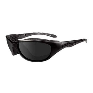 WILEY X AIRRAGE SUNGLASSES, GREY LENSES / MATTE BLACK FRAME
